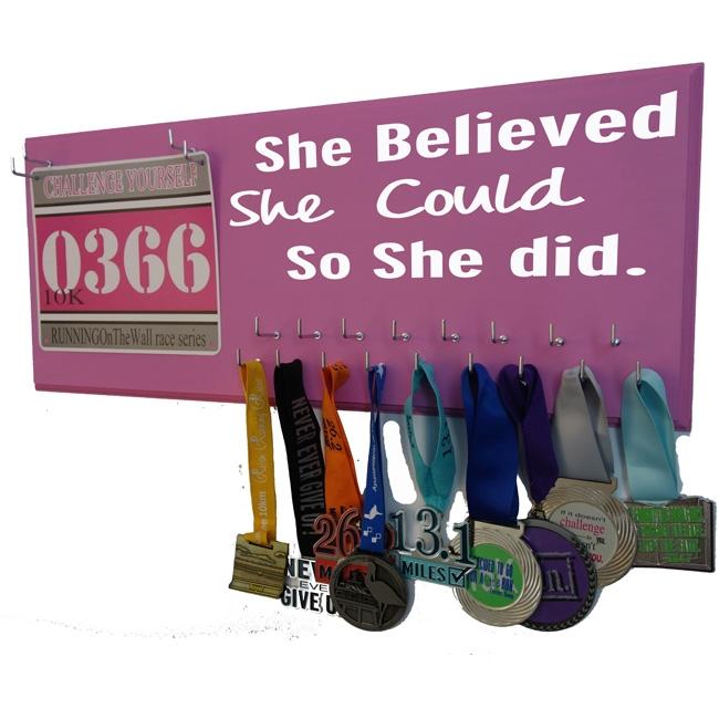 she believed she could medal holder