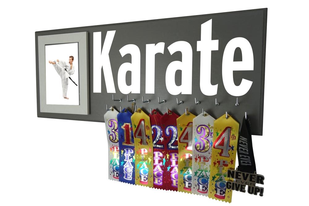 karate belt award ribbon holder hanger display rack